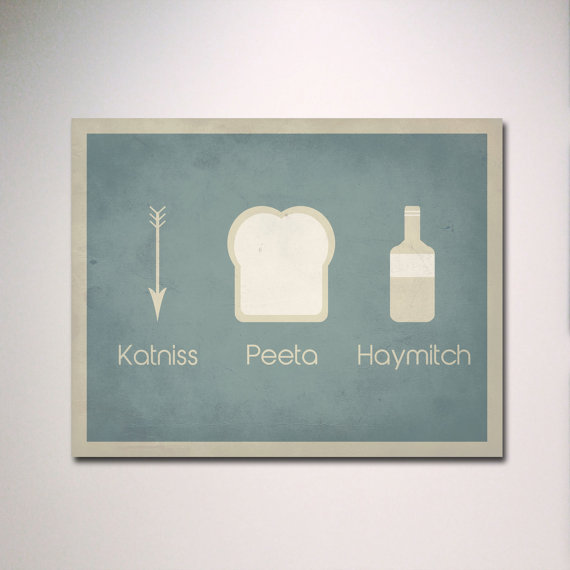 The Hunger Games Katniss Peeta Haymitch Poster ($15)