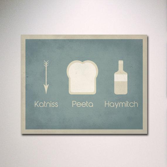 Katniss Peeta Haymitch Poster ($15)