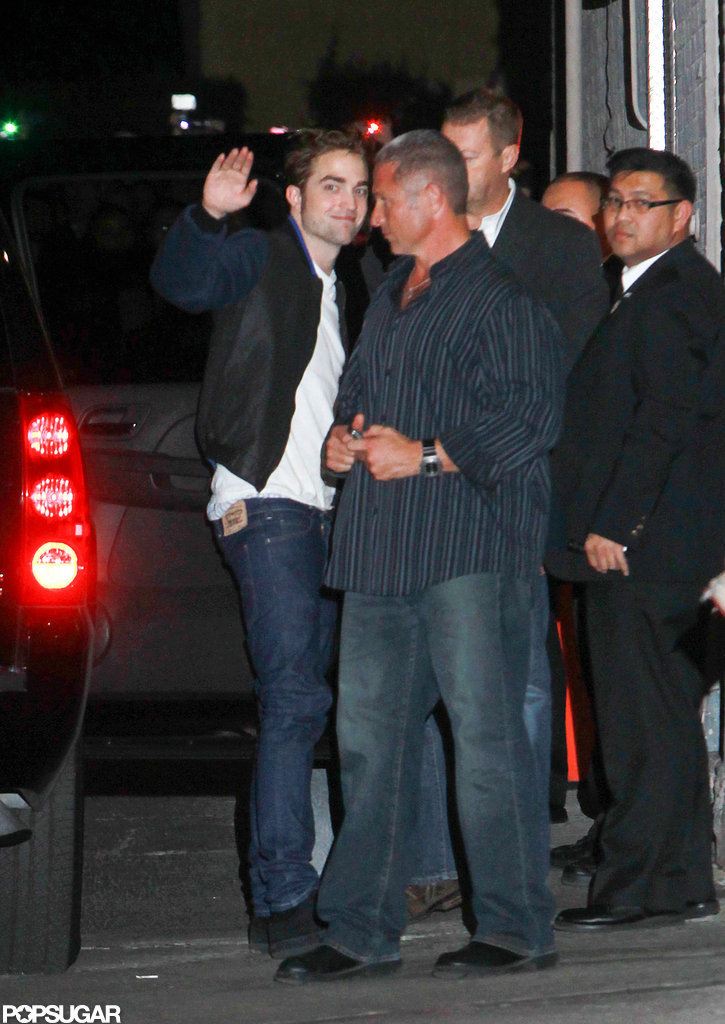 Robert Pattinson was outside Jimmy Kimmel Live.