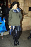 Gwen Stefani stepped out of her London hotel with Zuma Rossdale close behind.