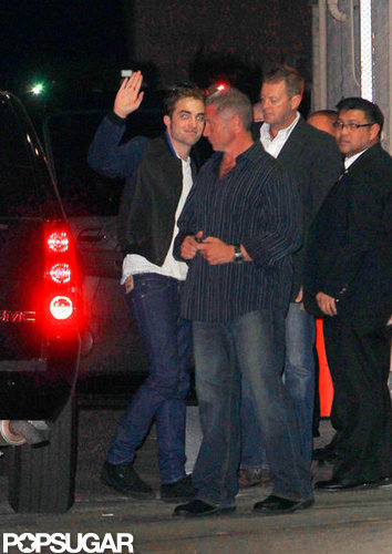 Robert Pattinson went to the Jimmy Kimmel Live studio.