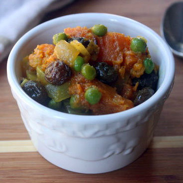 Curried Pumpkin With Raisins