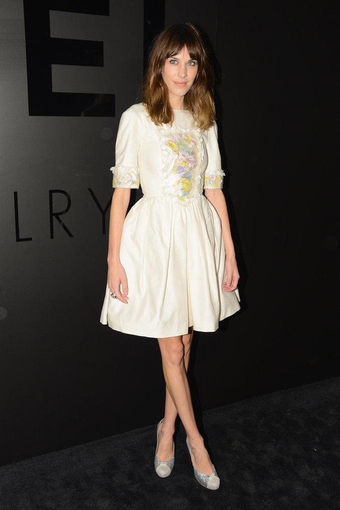 Alexa donned this prim cream frock for a Chanel soirée in October 2012.