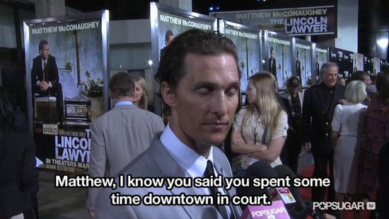 Video: Matthew McConaughey Talks Levi and Court at Lincoln Lawyer Premiere!