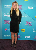 Britney Spears was at The X Factor finalists party in LA.