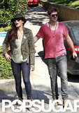 Robin Thicke and Paula Patton placed their votes together in LA.