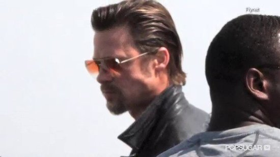 Video: Did Brad Pitt Dye His Goatee?