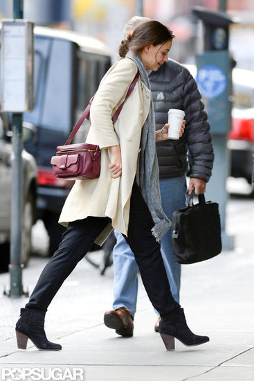 Katie Holmes stopped for a coffee in NYC.