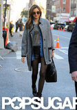 Miranda Kerr arrived for the Victoria's Secret Fashion Show rehearsals.