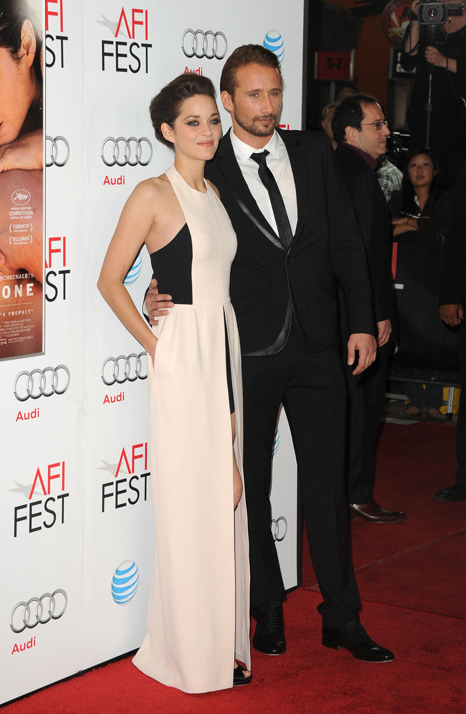Marion Cotillard and Matthias Schoenaerts posed together before the screening.