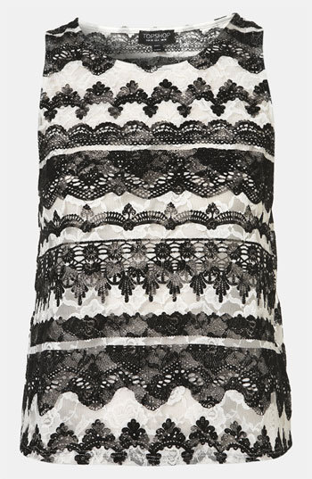Pair this cool 3D Topshop Baroque Velvet Lace Tank ($48) with leather skinnies and you're set for NYE.