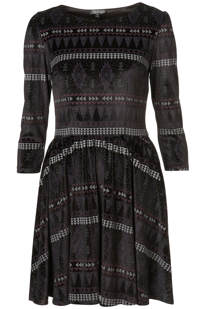 Dress down this Topshop Aztec Dress ($92) with tights and oxfords for an easy weekend look.