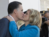Mitt Romney kissed his wife, Ann, on Election Day.