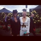 Cheyenne Tozzi and Ashley Hart step out in black and white. Source: Instagram user @cheyennet