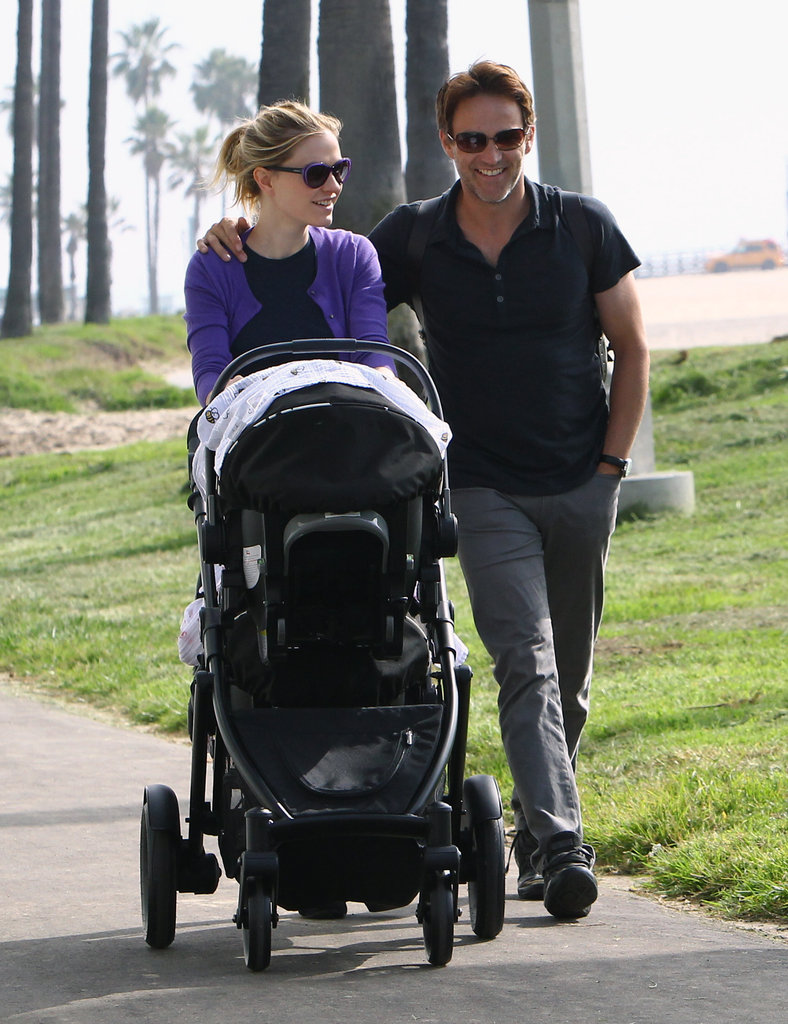 Anna Paquin and Stephen Moyer were all smiles while walking through Venice, CA, with their twins in November 2012.