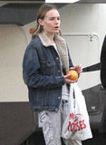 Kate Bosworth picked up some fruit during a break from filming.