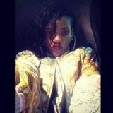 Rihanna pouted for the camera. Source: Instagram user badgalriri