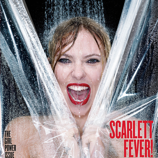 Scarlett Johansson Psycho Shower Scene For V (Video)