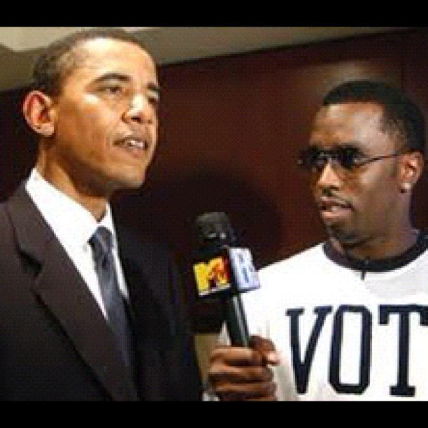 Diddy took a look back at an old photo of himself with the president.  Source: Instagram user iamdiddy