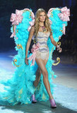 Constance Jablonski wore giant wings on the Victoria's Secret Fashion Show runway.