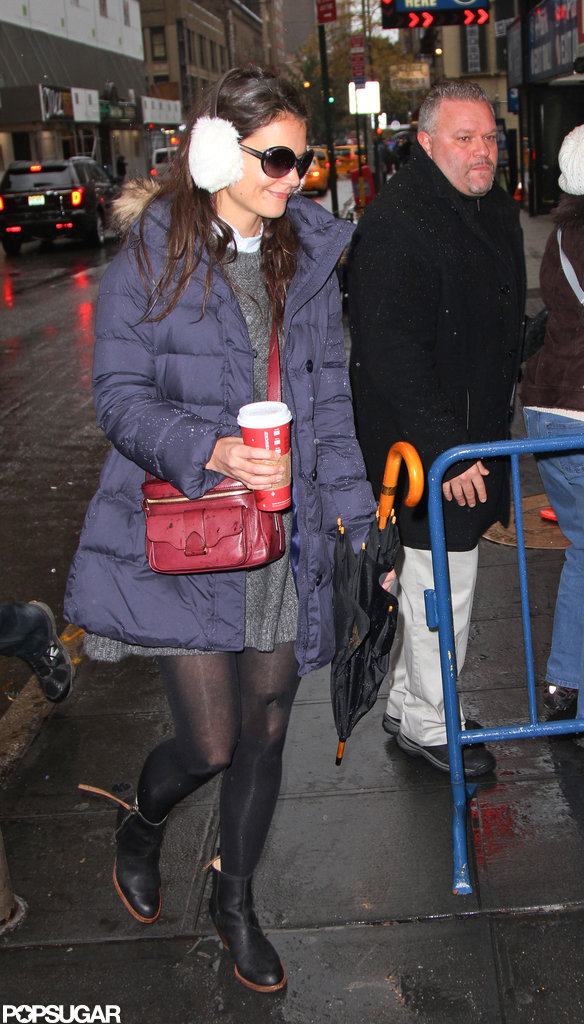 Katie Holmes arrived at her Broadway show.