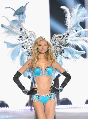 Madgalena Frackowiak appeared on the runway at the Victoria's Secret Fashion Show.