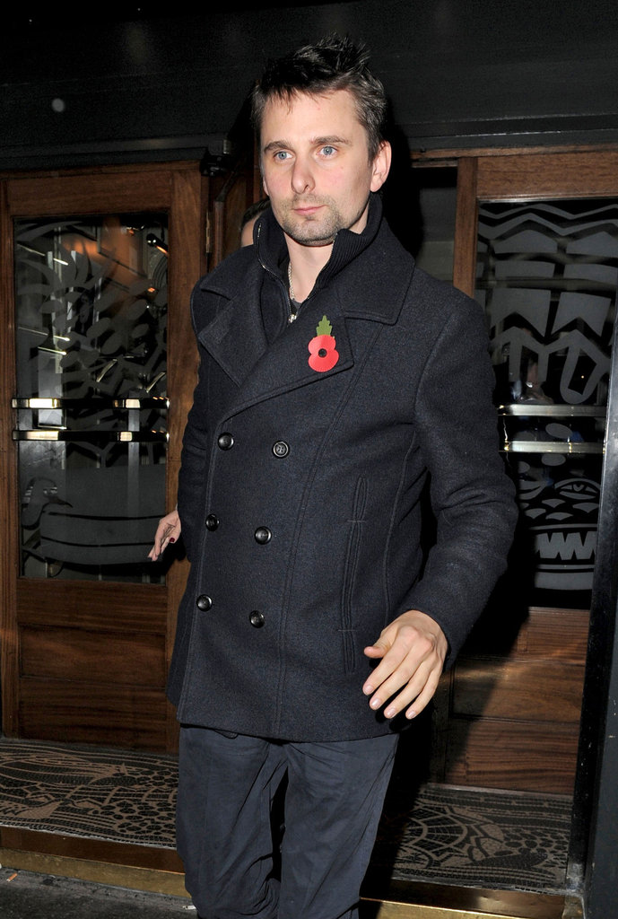 Matt Bellamy had dinner out in London with Kate Hudson.
