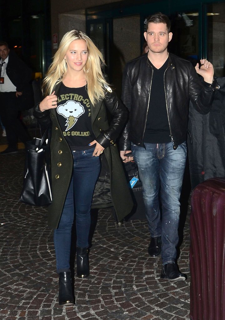 Luisana Lopilato walked alongside her husband, Michael Bublé.