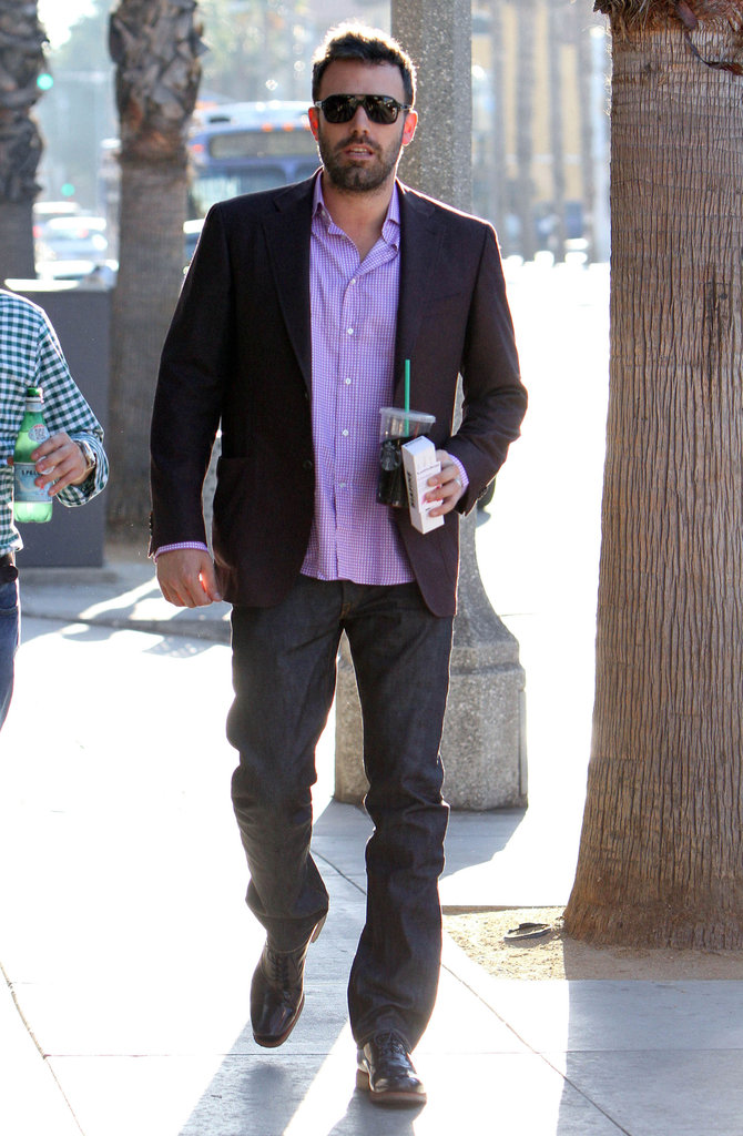 Ben Affleck made a Starbucks run in LA.