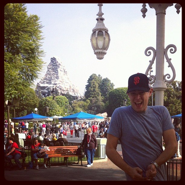 Colin Hanks celebrated President Obama's win with a trip to Disneyland. Source: Instagram user colinhanks