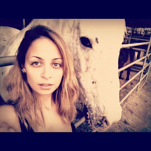 Nicole Richie hung out with a horse. Source: Instagram user nicolerichie