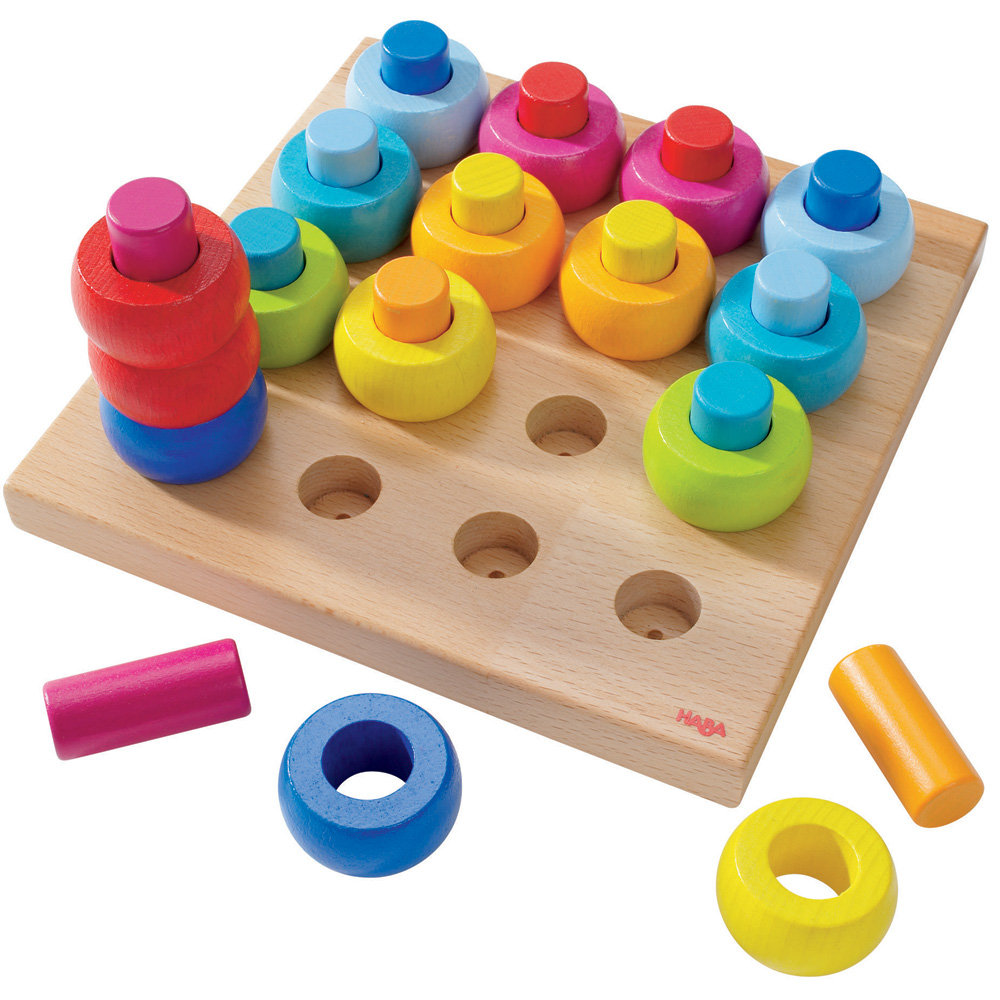 HABA's Rainbow Whirls Pegging Game