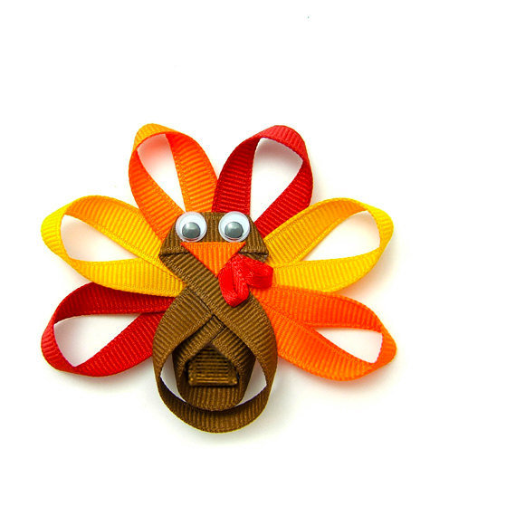 Turkey Hair Bow