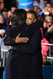 At his final campaign rally, Barack Obama had the support of wife Michelle.