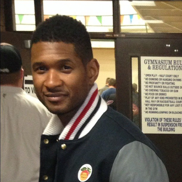 Usher voted in Georgia. Source: Instagram user howuseeit