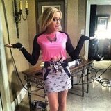 Carly Chaikin modeled her outfit for an upcoming episode of Suburgatory. Source: Instagram user harlyharly