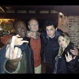 Ben Schwartz and his House of Lies costars Don Cheadle, Josh Lawson, and Kristen Bell celebrated the return of their show. Source: Instagram user rejectedjokes
