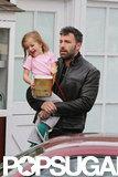 Ben Affleck carried daughter Seraphina in LA.