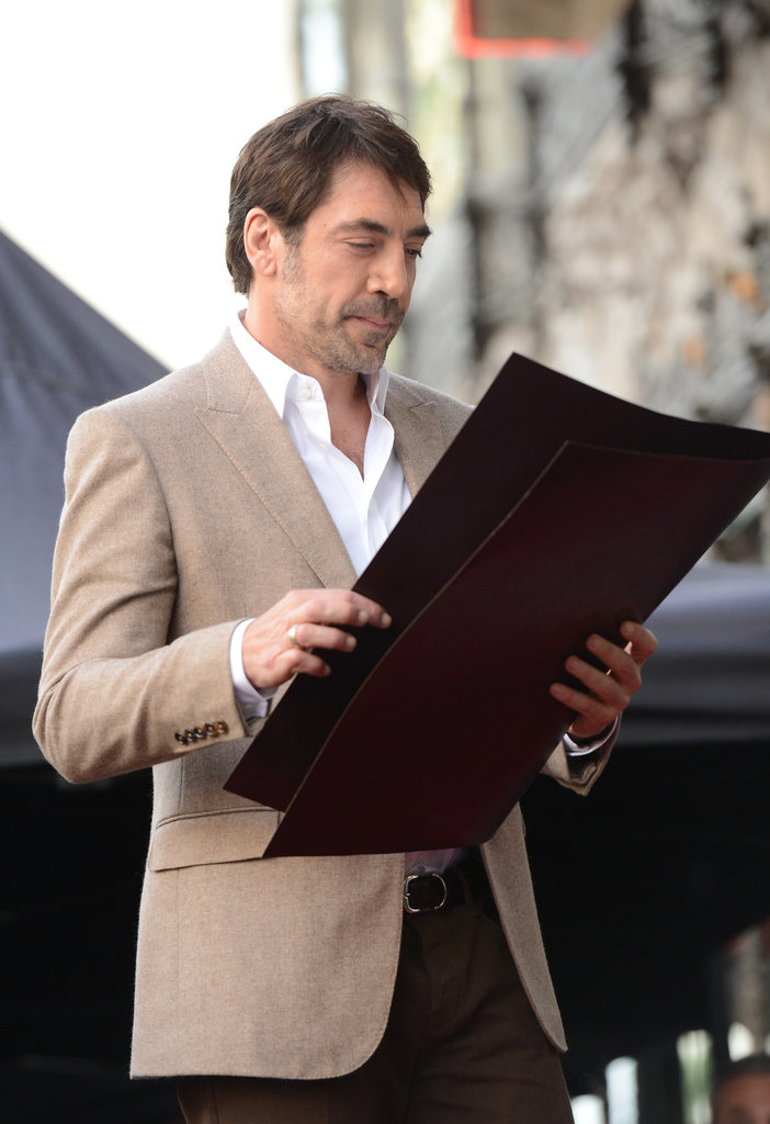 Javier Bardem Accepts a Star on Hollywood's Walk of Fame