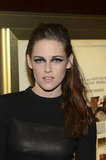 Kristen Stewart Wears a Striking Leather Dress For On the Road in NYC