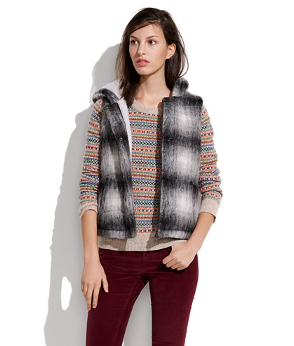 I actually cannot get enough puffer vests in my life, which is why I'm asking Santa for this Madewell tartan vest ($168). Bonus: it's hooded! — Noria Morales, style director