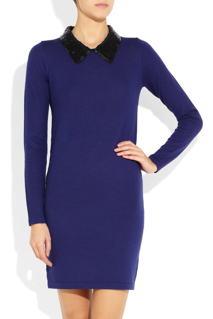 Thanks to the sequined collar, this Markus Lupfer Emma Sequin-Collar Wool Dress ($450) is easy to take from office hours to your holiday cocktail parties.