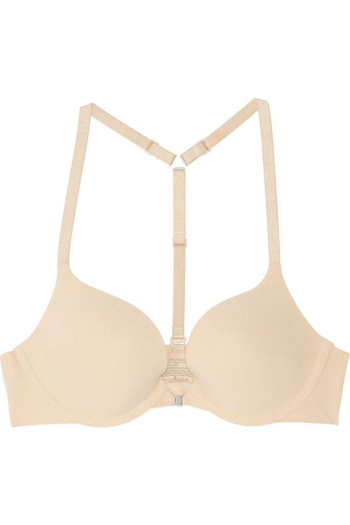 Eliminate the need for 10 different bras with one convertible bra, like this Calvin Klein Underwear Perfectly Fit Multi-Way Stretch-Jersey Bra ($46) that you can wear four different ways — including racer-back style for those necklines that really present a challenge.