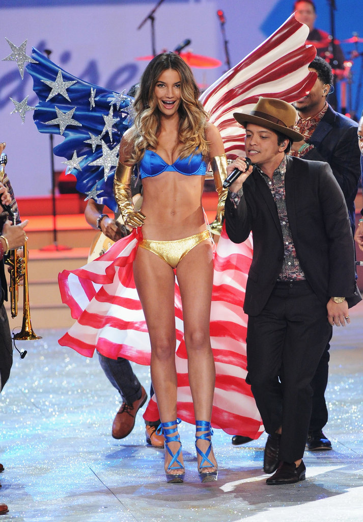 Lily Aldridge and Bruno Mars