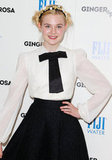 Elle Fanning rocked a black and white look.