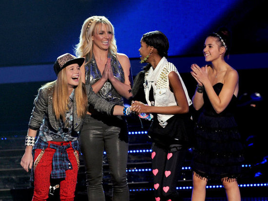 Britney Spears shared the excitement of the night with her finalists.