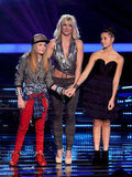 Britney Spears Shines in Silver Halter Top on X Factor