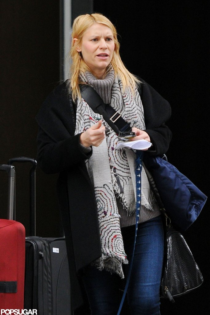 Claire Danes walked her dog in NYC.
