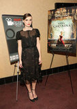 Keira Knightley showed off a ladylike Valentino dress and ankle-strap pumps at an Anna Karenina screening.