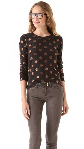 This spotted Marc by Marc Jacobs top ($77) is quirky metallic perfection. — Tara Block, assistant editor